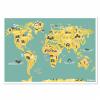 Världskarta för barnrummet